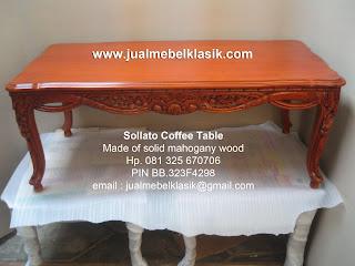Supplier mebel klasik meja tamu klasik ukir mahoni meja coffee table solid mahogany