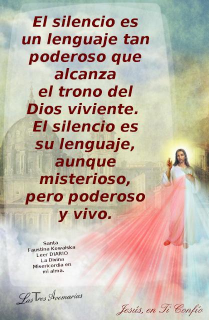 anotacion en el diario la divina misericordia hacerca del silencio