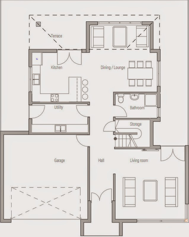 Planos de casa 3 dormitorios 2 plantas planos de casas for Planos casas una planta 3 dormitorios