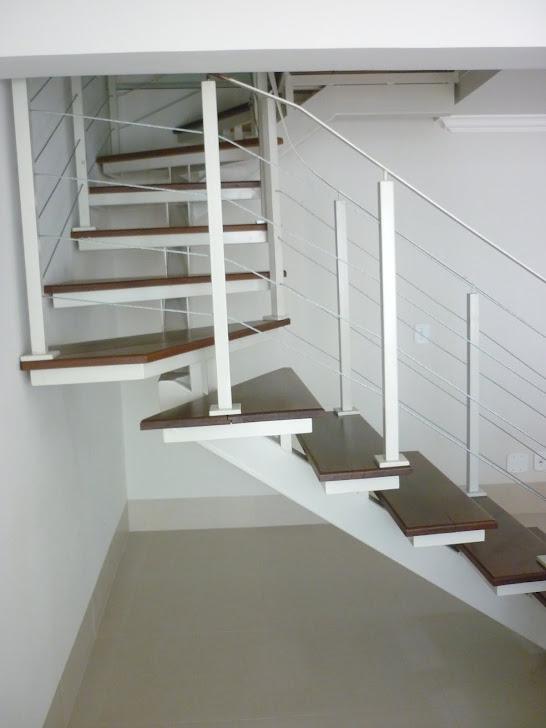 escada em U - projeto reforma residencial