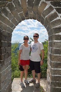 Tom Savage and Misheil Savage at the Great Wall at Lianyunling