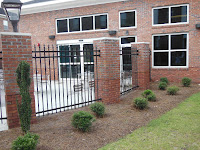 Brick And Wrought Iron Fencing1