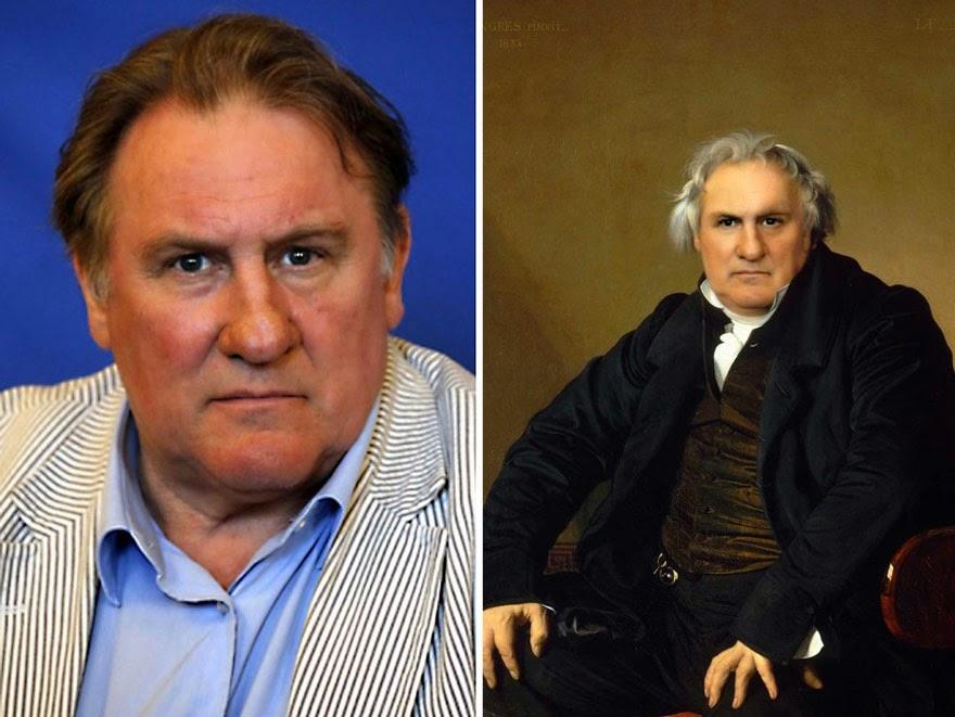 Las pinturas históricas se fusionan con celebridades modernas