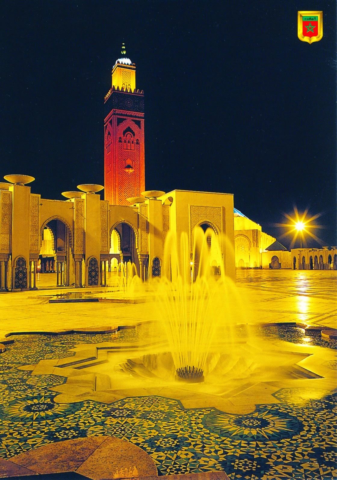 postcard, morocco, casablanca
