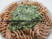 Pasta met Romige Spinazie en Kappertjes