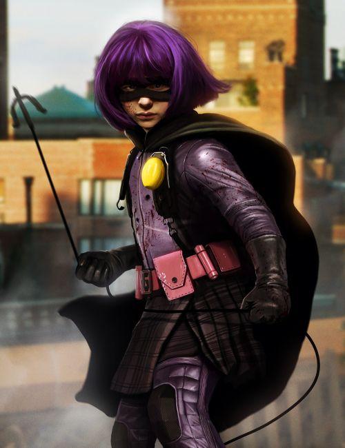 Dan Luvisi deviantart ilustrações digitais fantasia filmes quadrinhos cultura pop Hit Girl