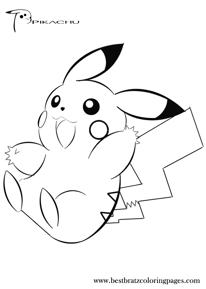 cute pokemon pikachu coloring pages - photo#19
