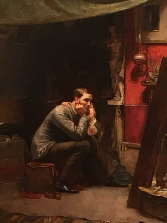 "1883 Oil Painting ""Rejected"" by Tom Roberts"