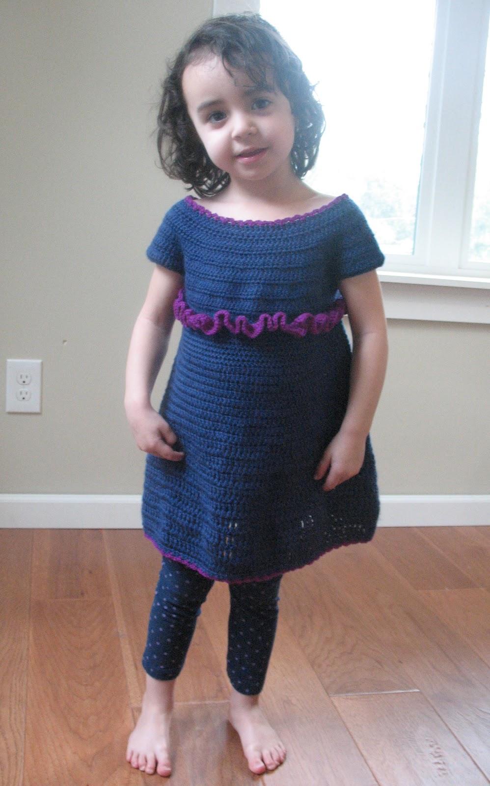 Free Crochet Pattern For Child Dress : Ball Hank n Skein: Easy Peasy Toddler Dress Pattern