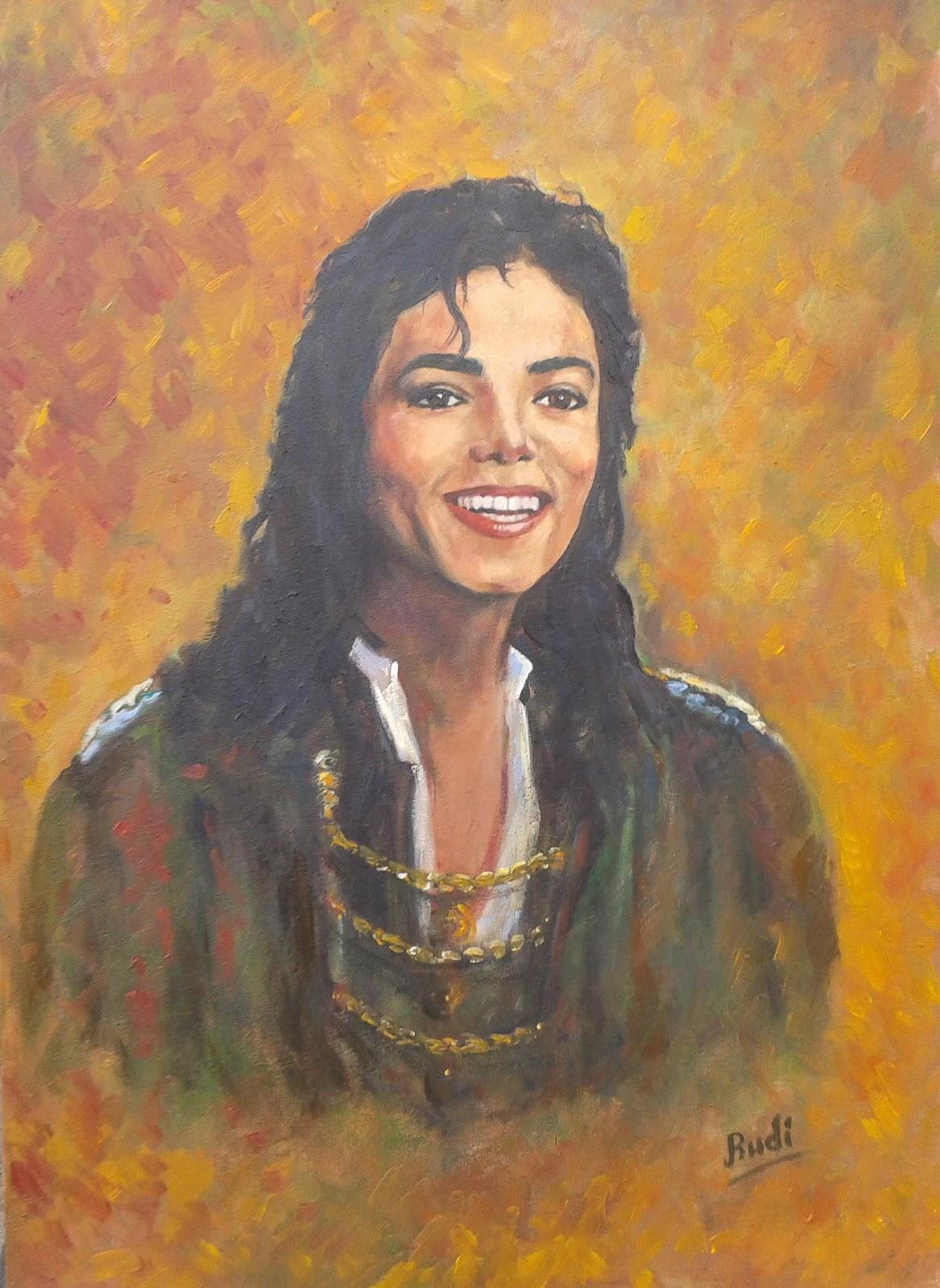 Homenaje retrato óleo a Michael Jackson.