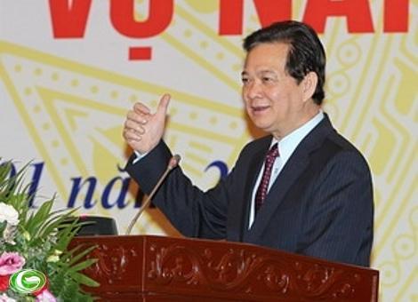 Thủ tướng Nguyễn Tấn Dũng chỉ đạo Văn phòng Chính phủ triển khai nhiệm vụ năm 2012