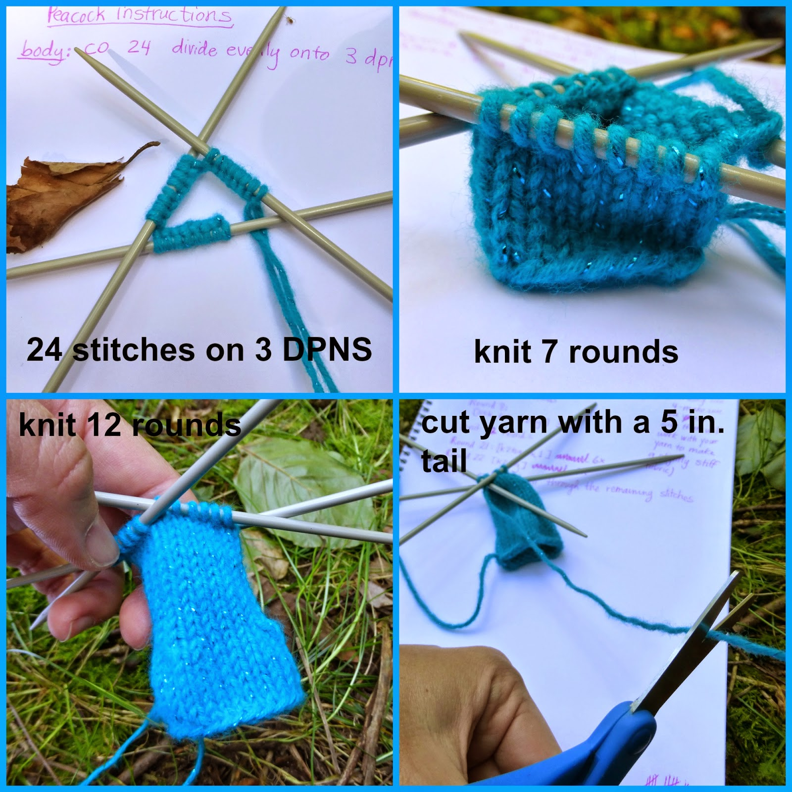 Flat Knot Knitting Stitch : Yarn Birdy Blog: How to Knit a Peacock Free Pattern and Tutorial