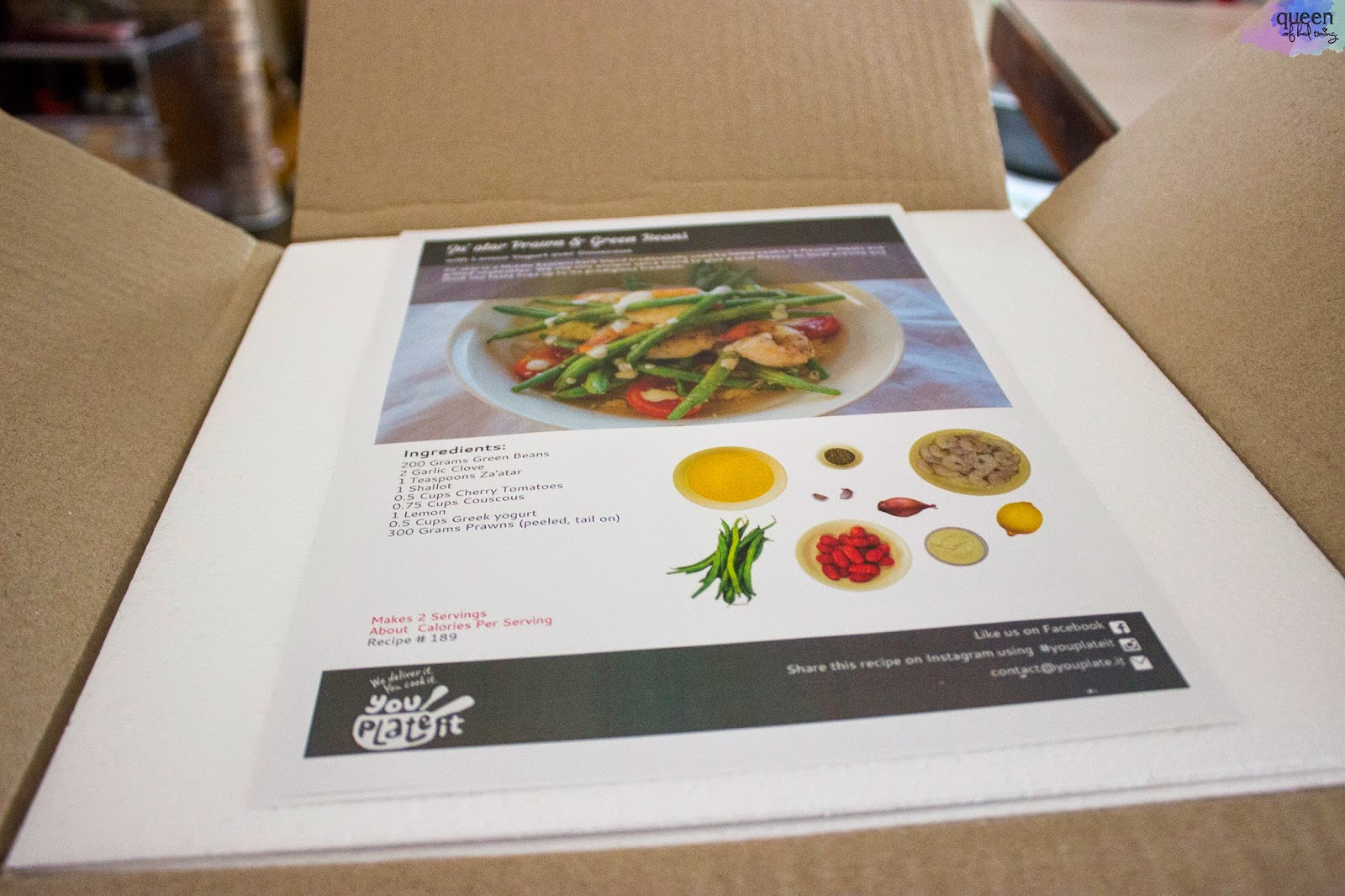 Meal time made easy with you plate it perth queen of bad timing at 4pm sunday my delivery of ingredients arrived encased in a styrofoam box with ice packs diligently keeping the produce cool and fresh the two meals are forumfinder Gallery