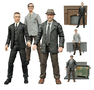 Gotham TV Series Select Action Figures Wave 2 by Diamond Select Toys - Alfred Pennyworth, Edward Nygma & Detective Harvey Bullock