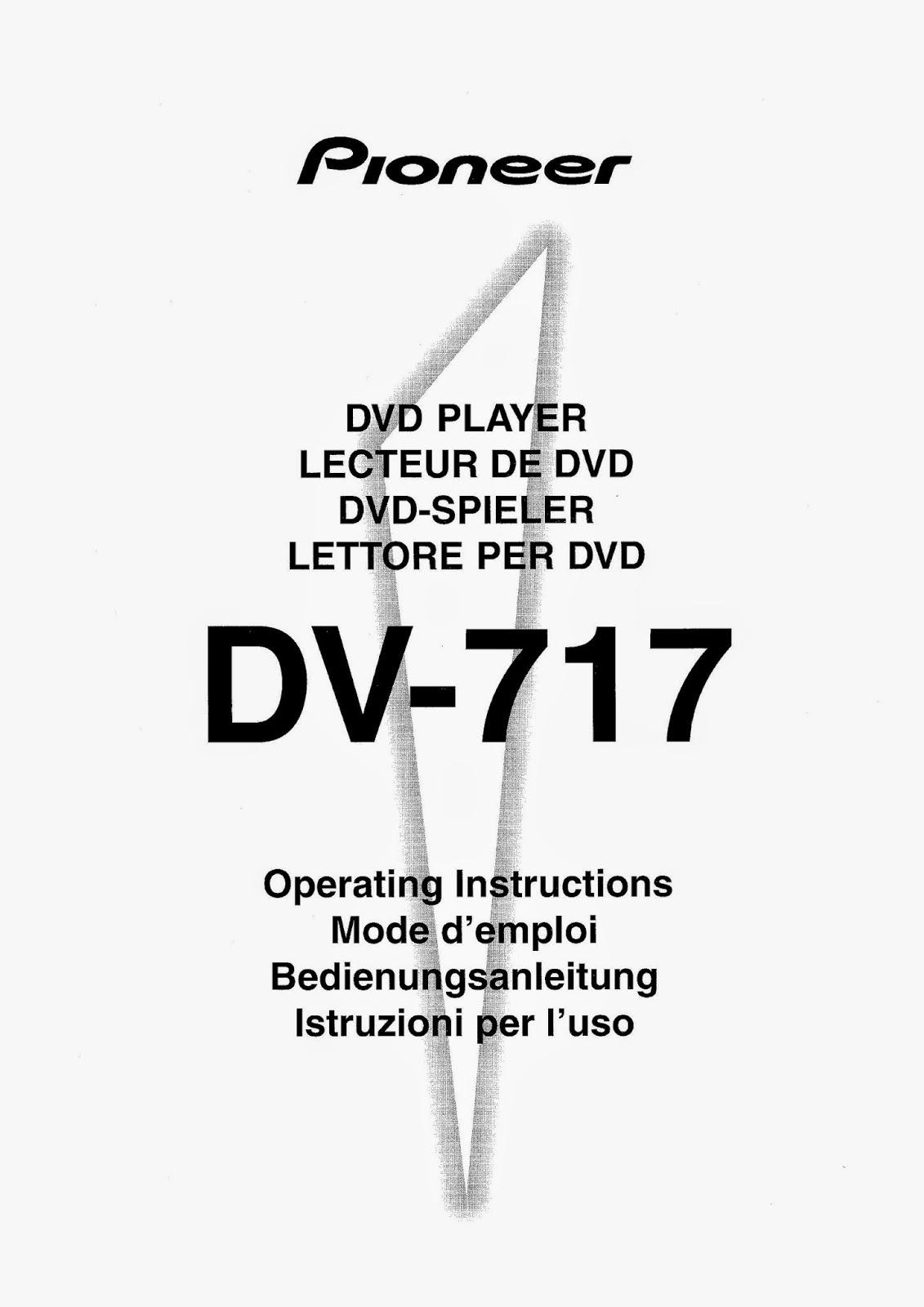 PIONEER DV-717 SERVICE MANUAL