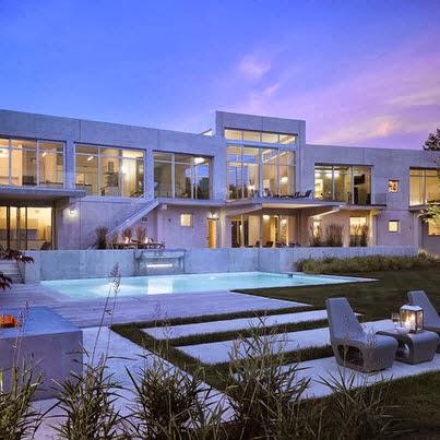 Fachadas de casas de lujo dise o l neas y estilos fotos construye hogar - Fotos de casas grandes ...