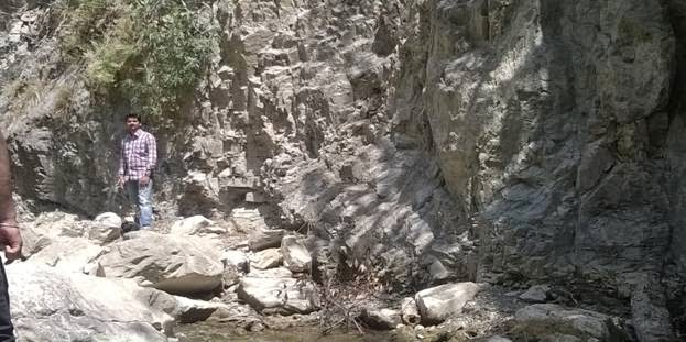 erosion of rock