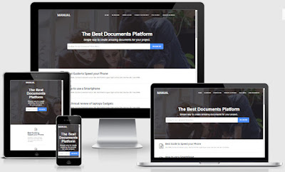Manual Online Docs Responsive Blogger Templates