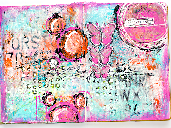 Classroom Design Journal Articles ~ Perseverance mixed media art journal documented life