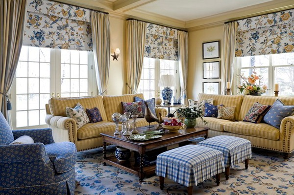 English Country Living Room Furniture Sets Design Ideas