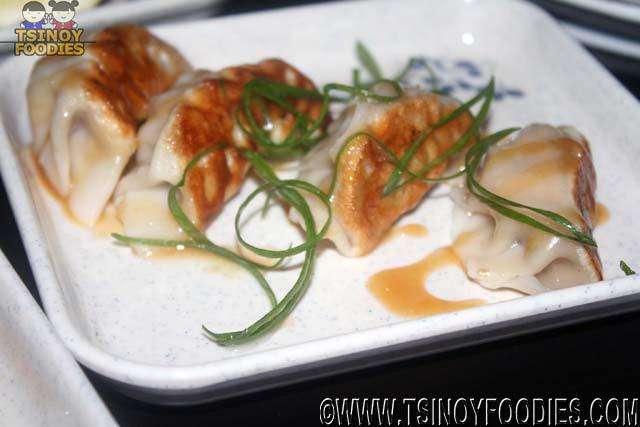 soy chicken and mushroom gyoza