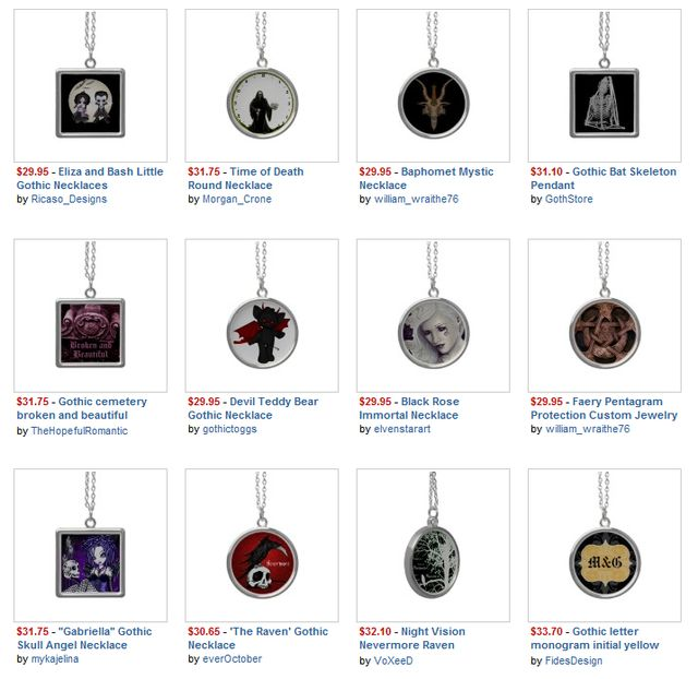 Gothic Necklaces and Pendants