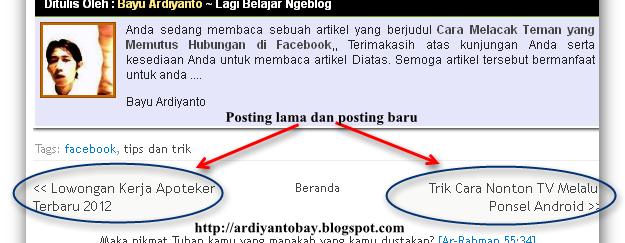 Mengganti Judul Artikel dan Alamat Link Artikel yang sudah di Posting