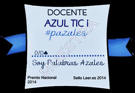 Insignia DOCENTES AZUL TIC