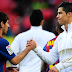 Messi and Ronaldo Shakes Hands