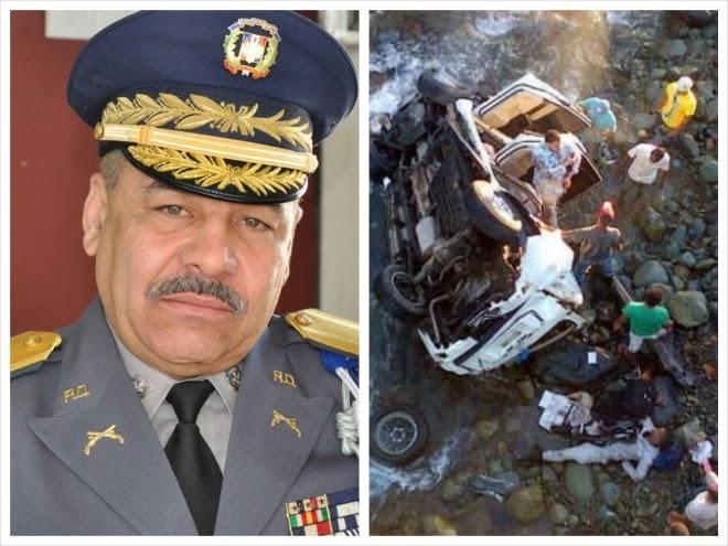 Muere en accidente el General De la Cruz Martínez