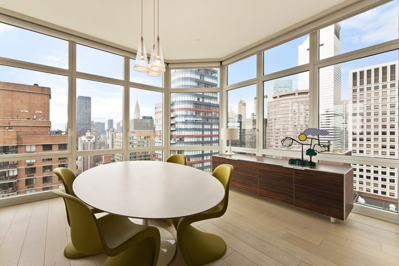 Dining table in Wolf of Wall Street Manhattan Apartment