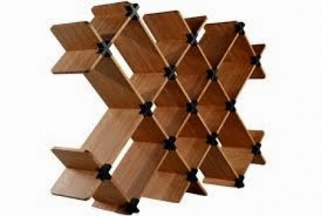 Wooden book shelve artistic look