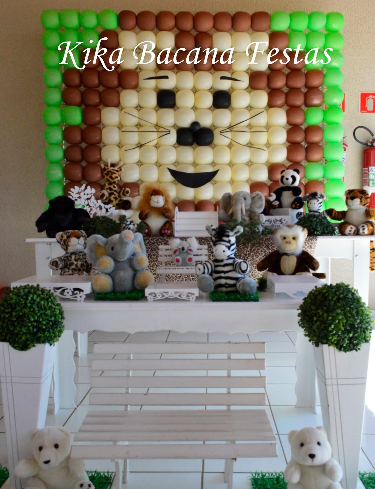 decoracao festa safari: : DECORAÇÃO CLEAN , DECORAÇÃO DE FESTA INFANTIL , TEMA: SAFARI