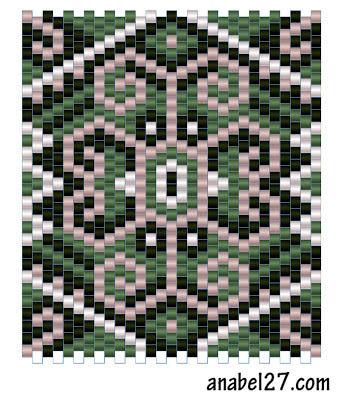 схемы бисер бисероплетение мозаика мозаичное кирпичное плетение кулон