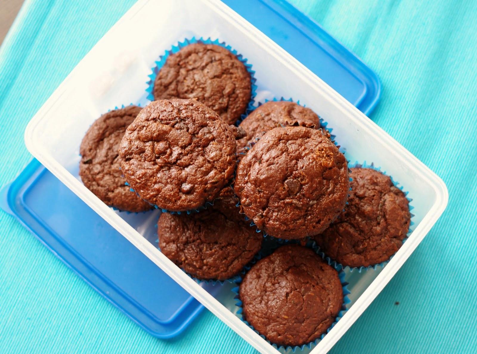 Healthy Chocolate Chip Zucchini Muffins