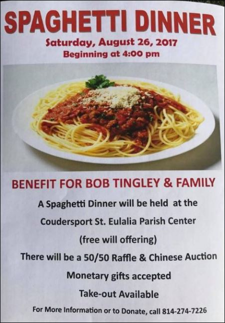 8-26 Spaghetti Dinner Benefit