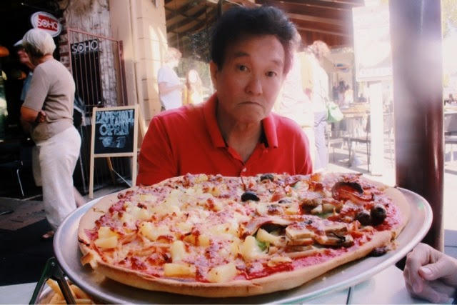 Mexican Pizza & Hawaiian Pizza, Pizza Bella Roma Restaurant @ Fremantle, Perth, Western Australia 澳洲, 澳大利亚, 珀斯