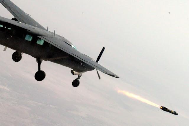 Cessna AC-208B Fires Hellfire