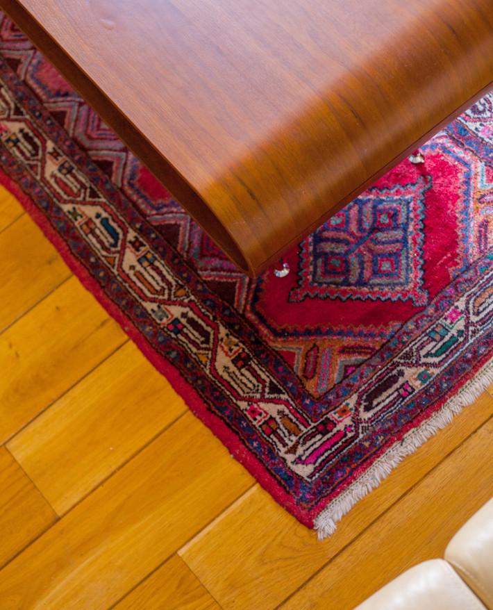 MADE hooper coffee table, persian rug
