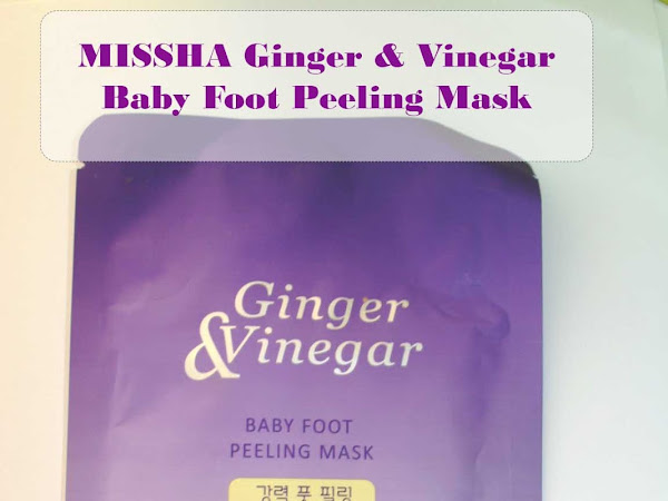 MISSHA Ginger and Vinegar baby foot peeling mask - get rid of dry summer feet