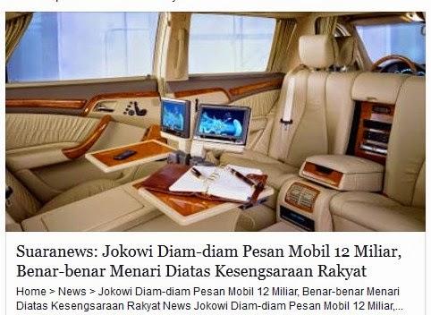 Jokowi Beli Mobil Mewah untuk Mobil Kepresidenan