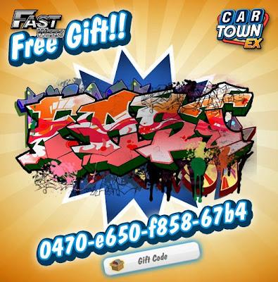 Car Town EX Free Gift Graffti