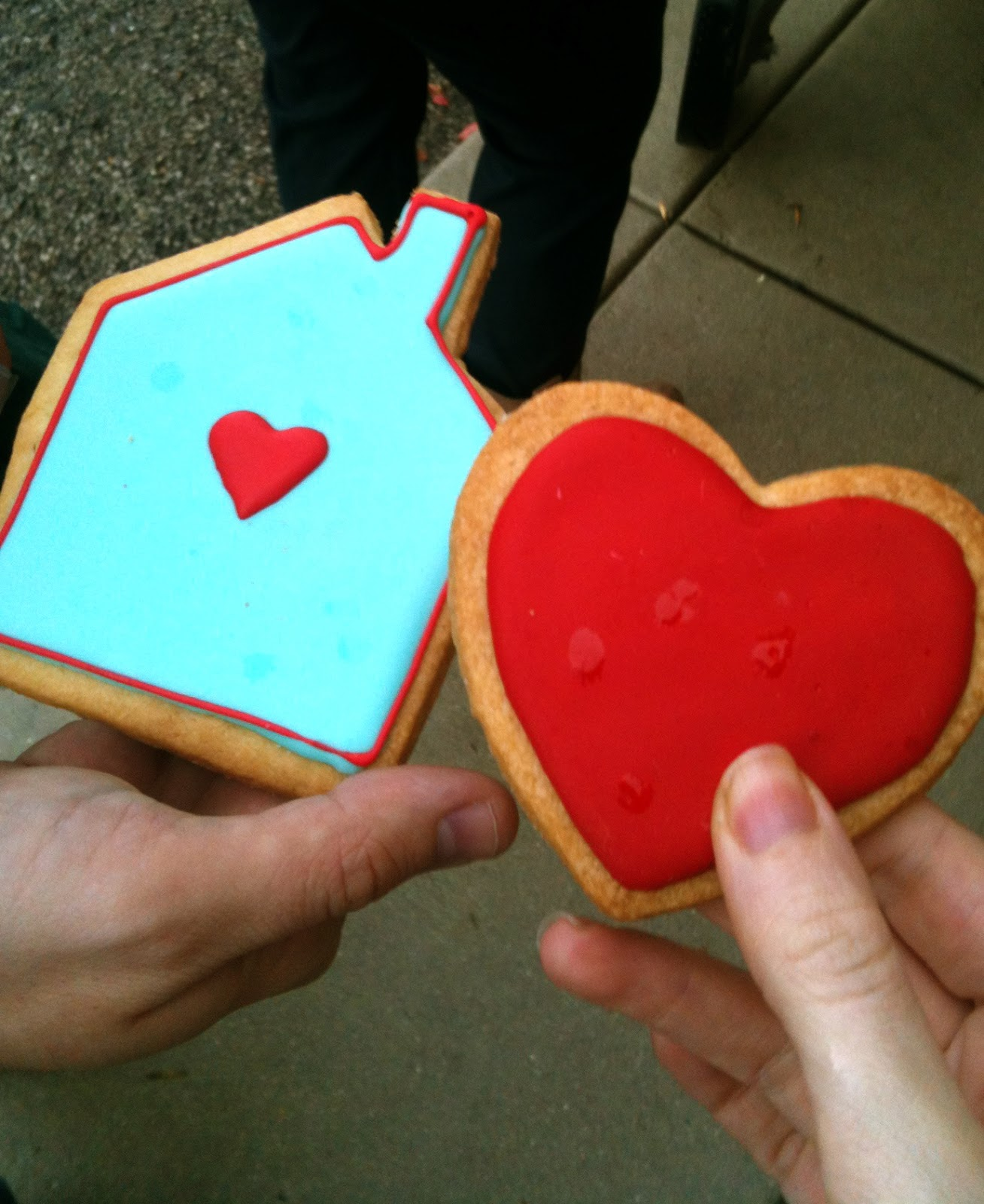 Young House Love cookies at Chicago West Elm book tour
