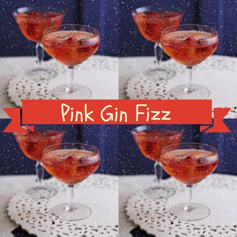 Pink Gin Fizz... | Claire Justine
