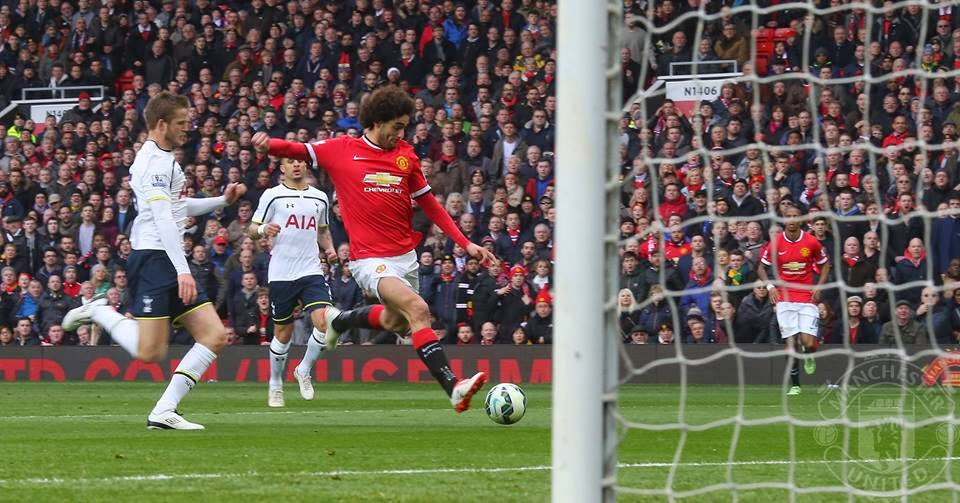 gol fellaini mu vs spurs 3-0
