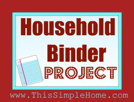 Household Binder Project