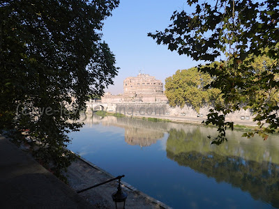 Looking across the Tiber River at the Castel Sant'Angelo