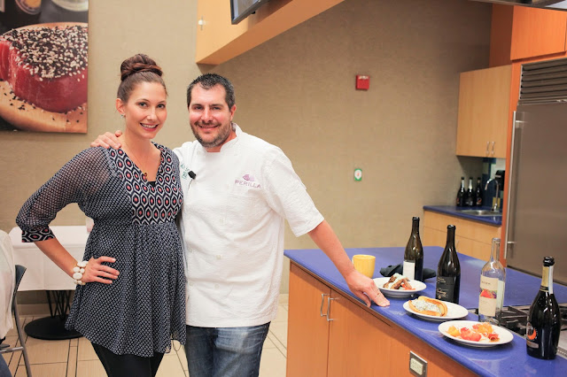 Amy West with Harold Dieterle at Publix Apron's Cooking School