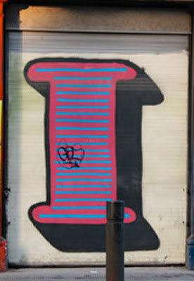 Letter I on Graffiti alphabet art