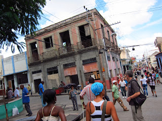 Santiago de Cuba streets full of people